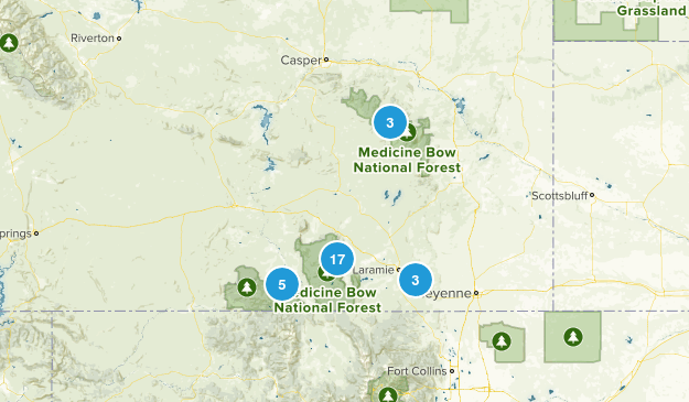 Medicine Bow National Forest Map