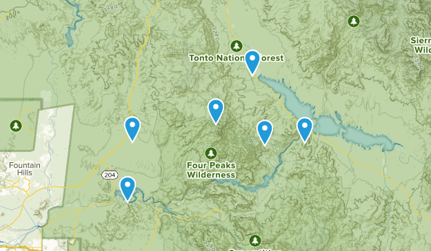Four Peaks Wilderness Map
