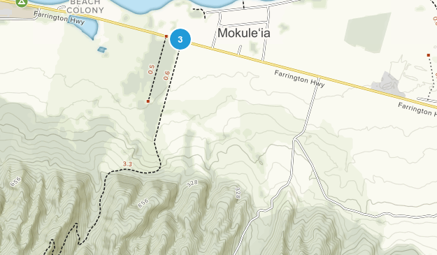 Mokuleia Forest Reserve Map