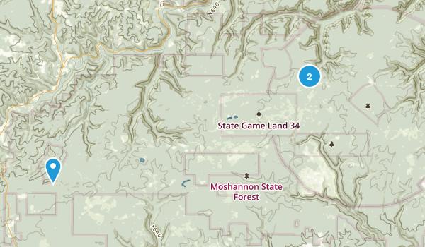 Quehanna Wild Area Map