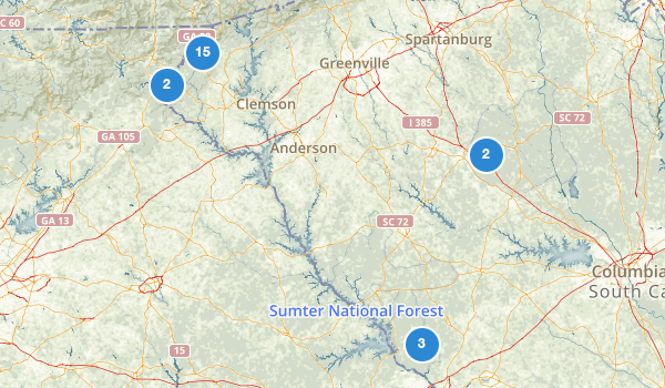 trail locations for Sumter National Forest