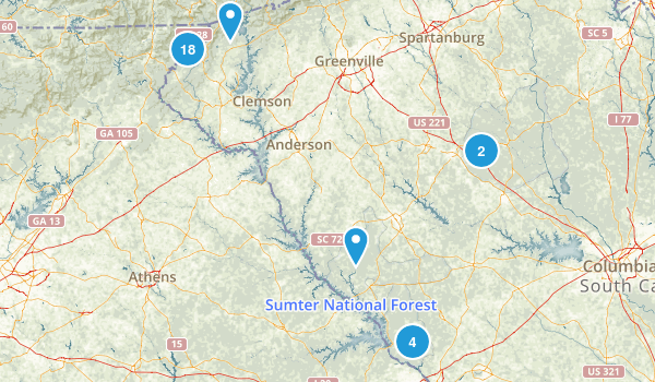 Sumter National Forest Map