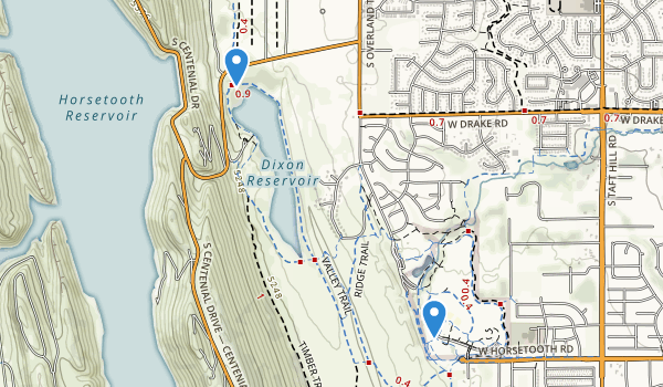 trail locations for Spring Canyon Community Park