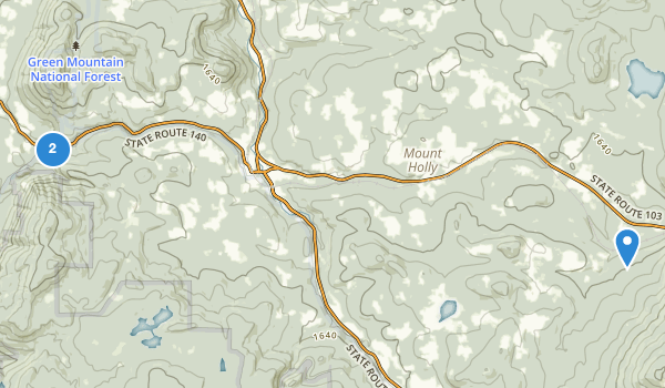 trail locations for Okemo State Forest