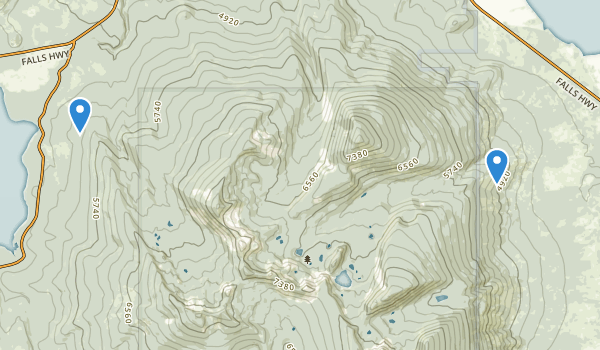 trail locations for Mountain Lakes Wilderness