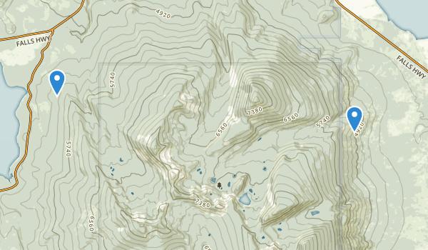 Mountain Lakes Wilderness Map