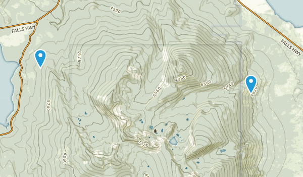 Mountain Lakes Wilderness Map