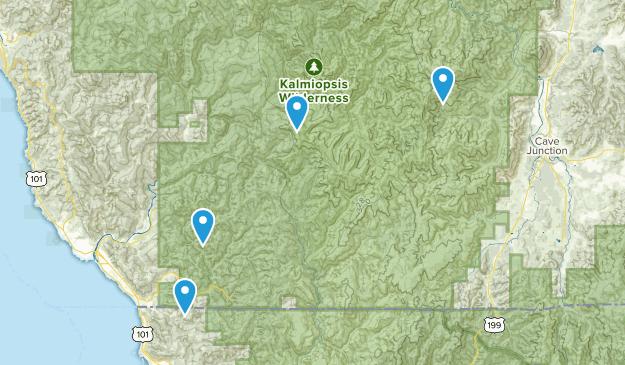 Kalmiopsis Wilderness Map