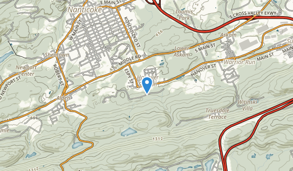 trail locations for Hanover Recreation Club Park