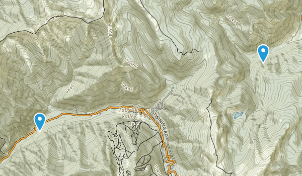 Wheeler Peak Wilderness Map