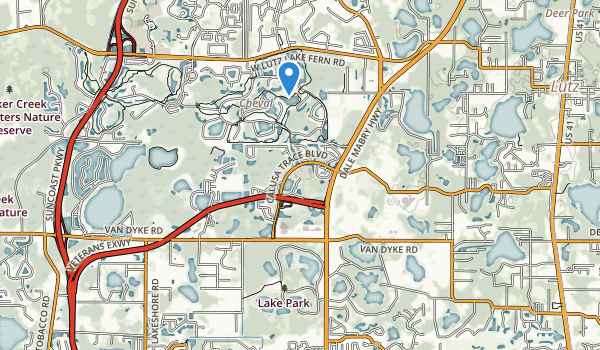 trail locations for Lake Park