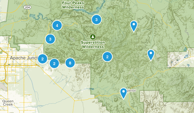 Superstition Wilderness Map