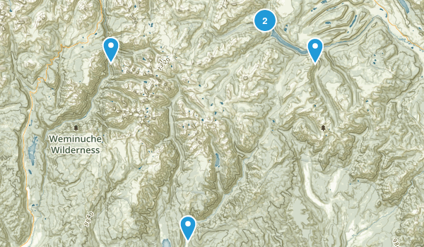 Weminuche Wilderness Map