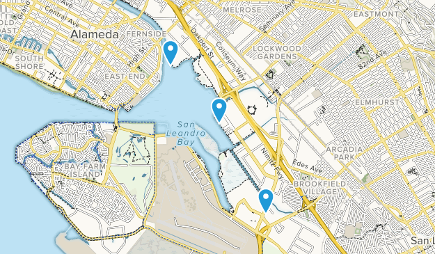 Martin Luther King Jr Regional Shoreline Map