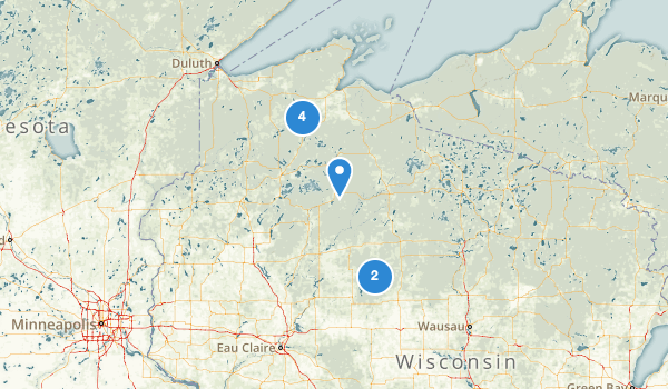 trail locations for Chequamegon National Forest