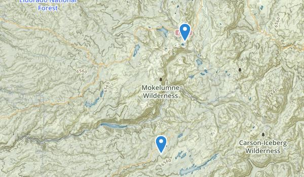 trail locations for Mokelumne Wilderness