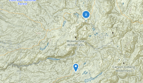 Mokelumne Wilderness Map