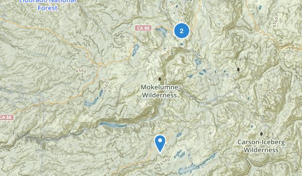 Mokelumne Wilderness Map