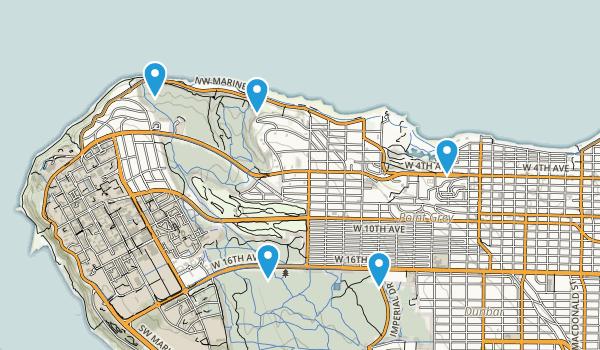 Pacific Spirit Regional Park Map