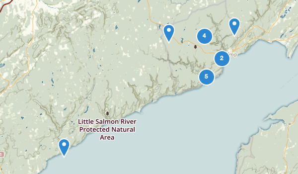 trail locations for Fundy National Park