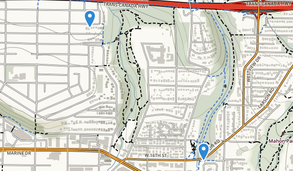 trail locations for William Griffin Park