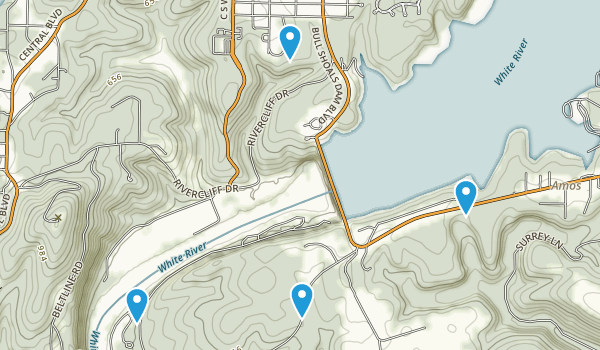 Bull Shoals-White River State Park Map