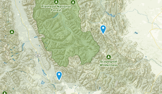 Bob Marshall Wilderness Map