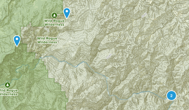 Wild Rogue Wilderness Map