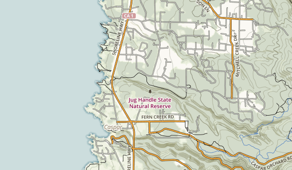 trail locations for Jug Handle State Reserve