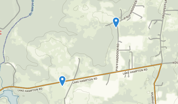 trail locations for Ralph E Simmons State Forest