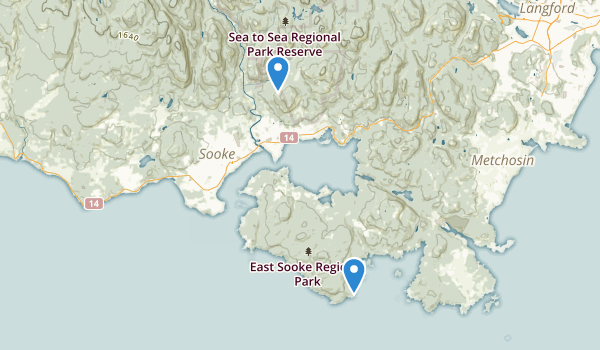 trail locations for East Sooke Regional Park
