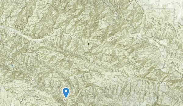 trail locations for San Rafael Wilderness