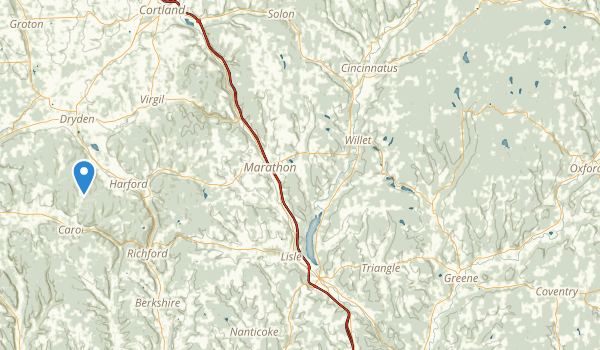 trail locations for Ludlow Creek State Forest