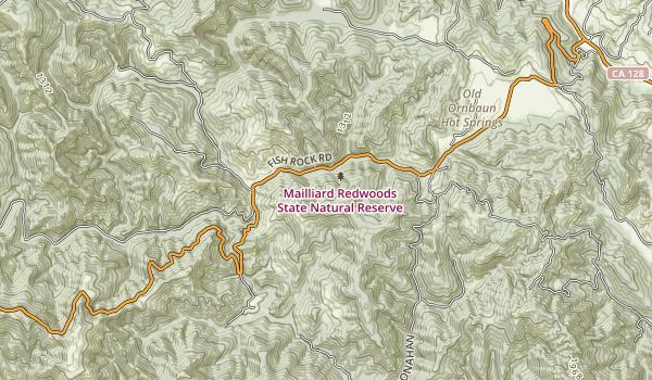 Mailard Redwoods State Park Map