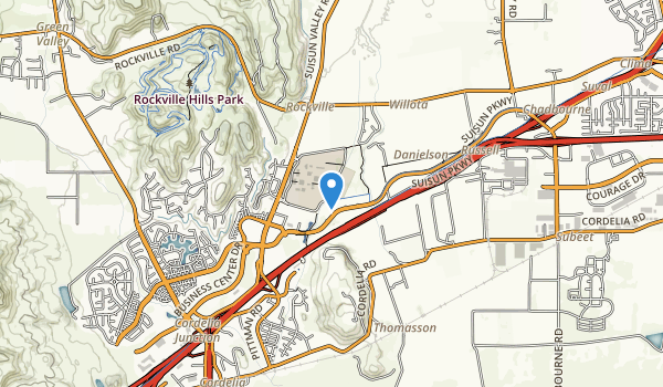 trail locations for Fairfield Linear Bike Trail