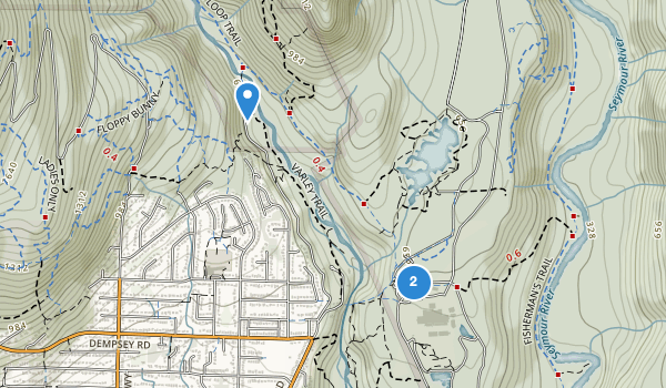 trail locations for Lynn Canyon Park