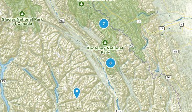 Kootenay National Park Map