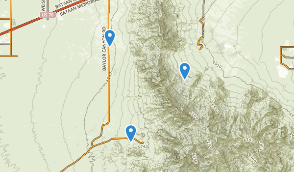trail locations for Aguirre Springs National Rec Area