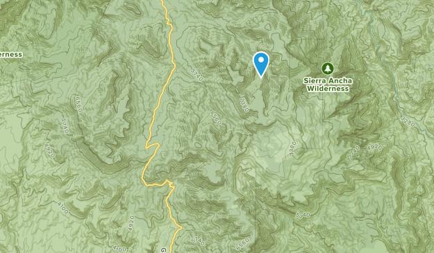 Sierra Ancha Wilderness Area Map