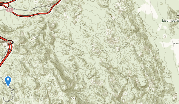 Jacumba Wilderness Area Map
