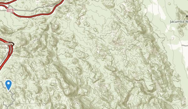 Jacumba Wilderness Area Map