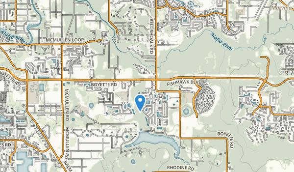 trail locations for Boyette Springs Park
