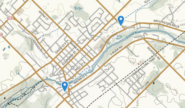 Elora Gorge Conservation Area Map
