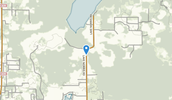 Lake Norris Conservation Area Map