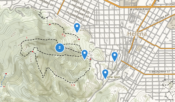 trail locations for Mt Helena Park