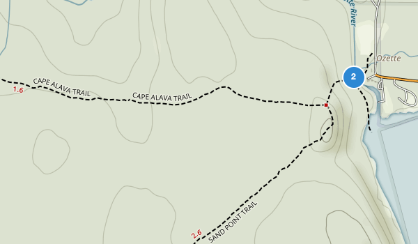 trail locations for Ozette Indian Reservation