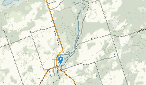 trail locations for Warsaw Caves Conservation Area