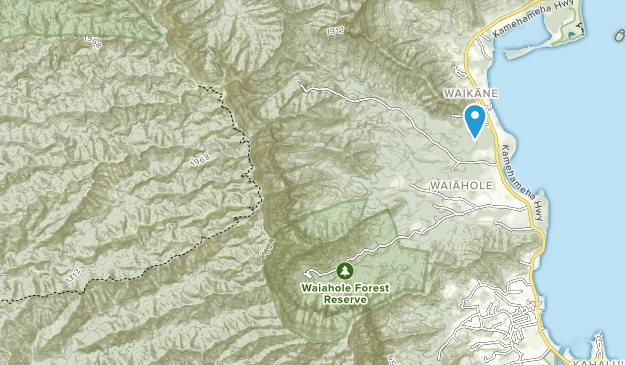 Waiahole Forest Reserve Map