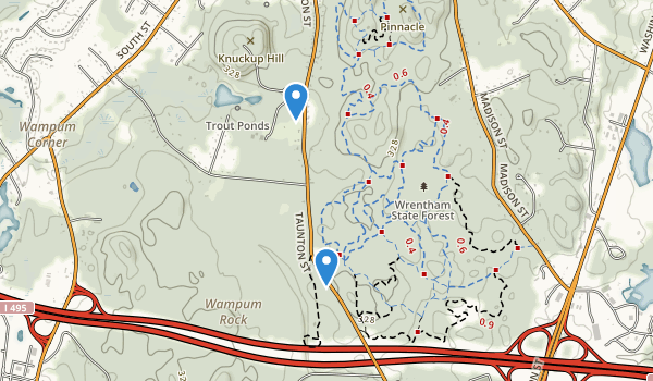 Wrentham State Forest Map