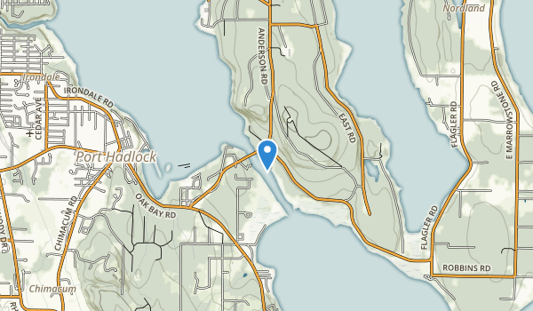 trail locations for Indian Island Park